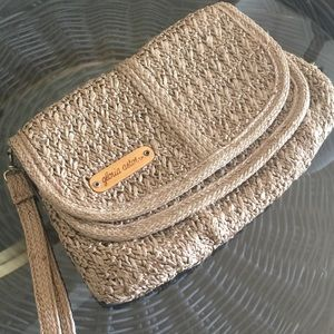 Handbags - Vintage Gloria Astor Sarne Woven Clutch Wristlet